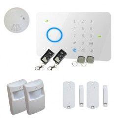 Alarme Maison sans fil GSM 2/3 pièces + Détecteur de fumée
