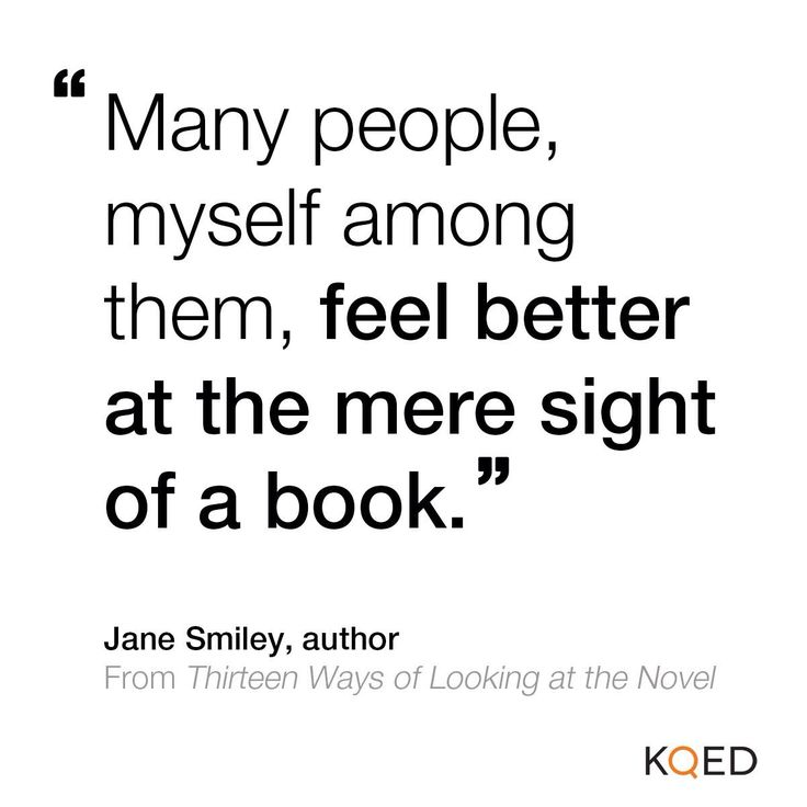 Many people feel better with a book