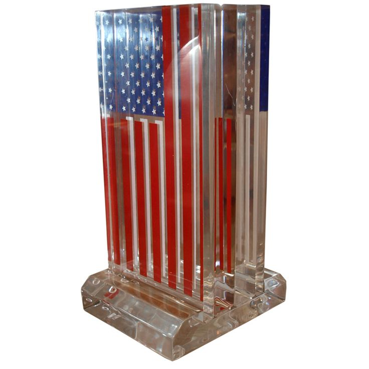 Original American Flag Sculpture made from Lucite Lux®. Happy Memorial Day!