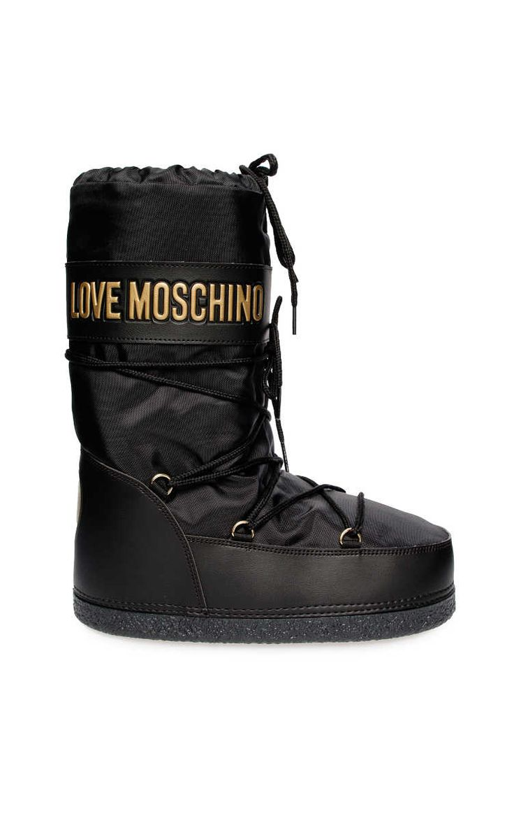 Moonboots BLACK/GOLD - Love Moschino - Designers - Raglady