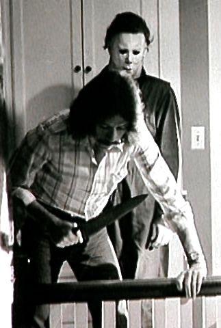 John Carpenter on the set of Halloween