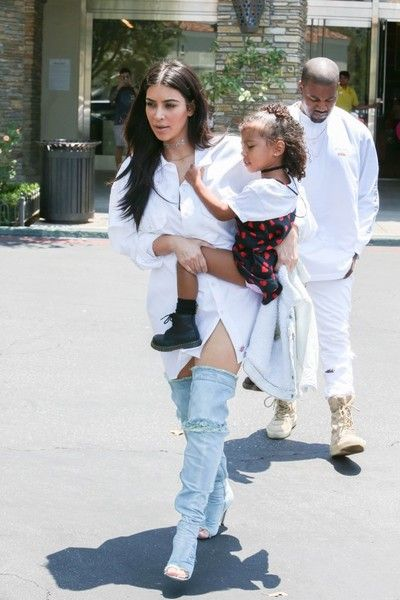 Kim Kardashian Photos Photos - Kim Kardashian, Kanye West, and North West are seen out and about in Calabasas, California on June 25, 2016. - Kim Kardashian, Kanye West, and North West See 'Finding Dory'