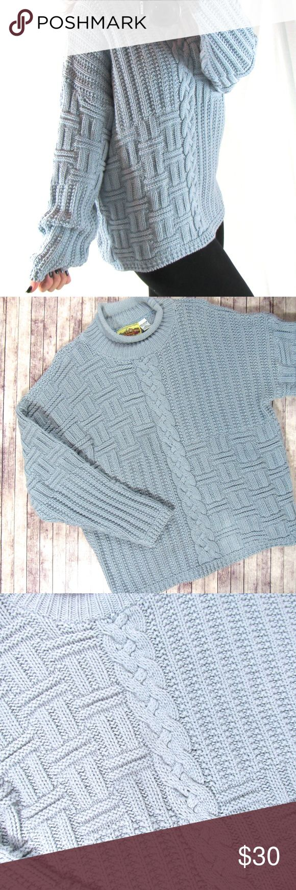 Emilee// Oversized Chunky Baby Blue Sweater// Beautiful baby blue oversized sweater, chunky, comfy and warm Sweaters