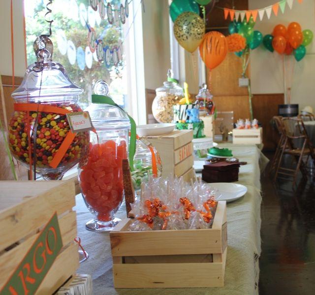 Photo 1 of 36: Jungle Safari / Birthday Bradys 1st Birthday Party   Catch My Party