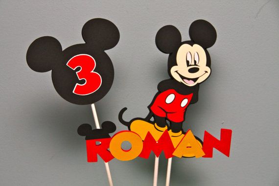 Mickey Mouse Centerpieces on Etsy, $5.00