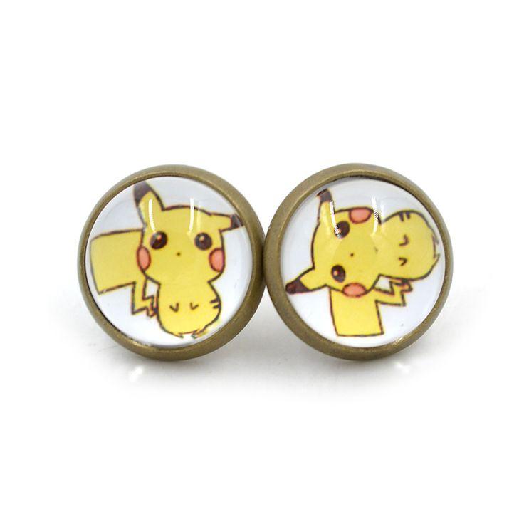 Lychee 1 pair Hot Japan Anime One Piece Chopper Charmander Cosplay Gem Stud Earrings Pokemon