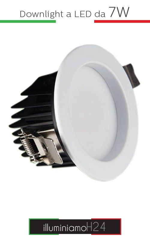Downlight a led da 7W - 6000°K Cool   White