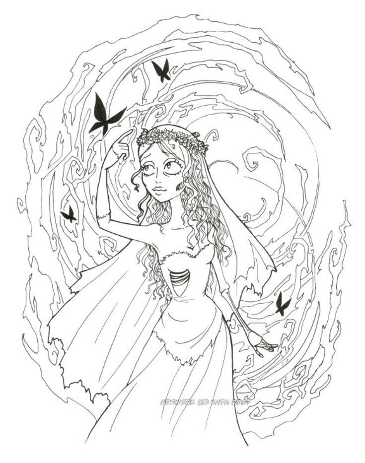 Corpse Bride Lineart by Kata-elf on @DeviantArt | Disney ...