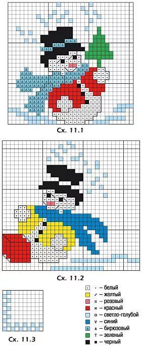 мини вышивка крестом новогодние схемы: 19 тыс изображений найдено в Яндекс.Картинках