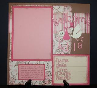 baby girl scrapbook page