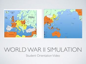 WWII Simulation Student Orientation PowerPoint/Keynote Presentation PowerPoint and Keynote Student Orientation Presentations for the World War Two Simulation. Totally Customizable. #gtie