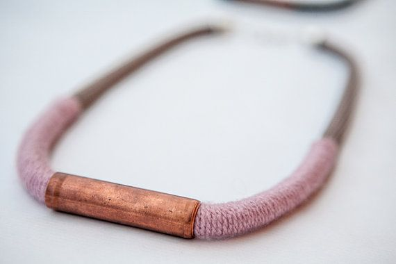 Hey, I found this really awesome Etsy listing at https://www.etsy.com/listing/171479725/copper-beige-rope-soft-pink-wool-022