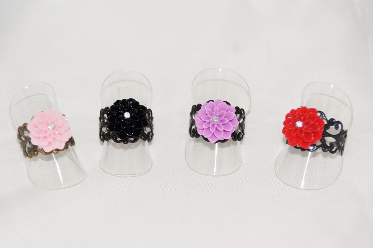 Flower Filigree Rings  www.kyanilazuli.com.au