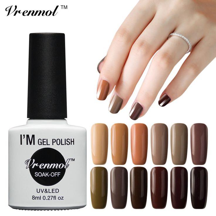 Cheap Vrenmol 1pc UV Nail Gel Long Lasting 12 Brown Series Gel Lacquer DIY Nail Art Colorful. Click visit to read descriptions #NailGel