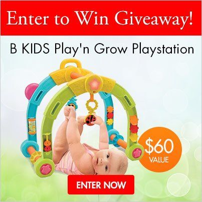 New giveaway on the Rightstart Blog. A @B kids Play'n Grow Playstation.