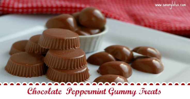 Chocolate Peppermint Gummy Treats ~ You could easily sub stevia for the honey. Subbing almond extract for the peppermint would also be tasty!