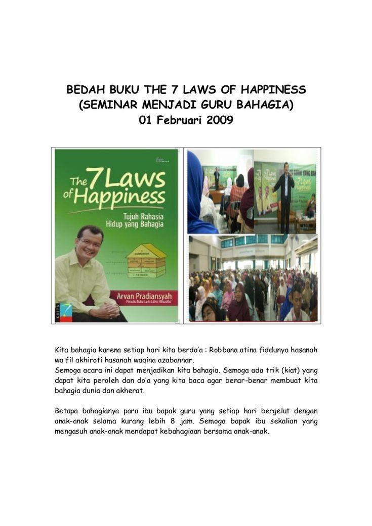 Bedah Buku 7 Laws Happiness by Ber Bahrani via slideshare