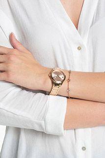 Roodgoud ster-horloge plus armband