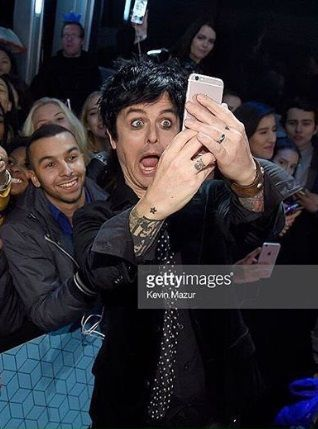 Billie Joe Armstrong at the MTV Europe Music Awards 2016 on November 6, 2016 in Rotterdam, Netherlands.