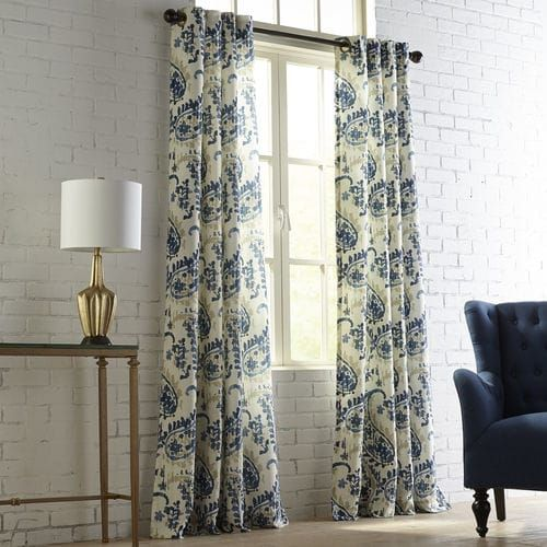 Freddy Blue Grommet Curtain | Pier 1 Imports