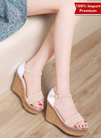 Wedges Wanita Import Premium 585PR  | shopasista.com | Distributor baju import | distributor baju korea | grosir baju korea | grosir baju import | supplier baju korea tangan pertama | importir baju korea