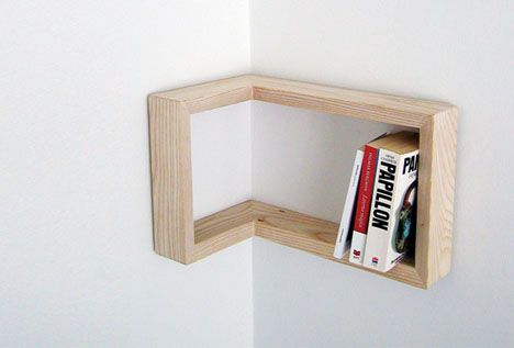 reversible inside corner shelving