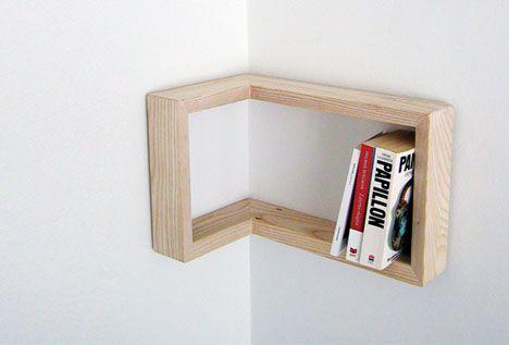 reversible inside corner shelving