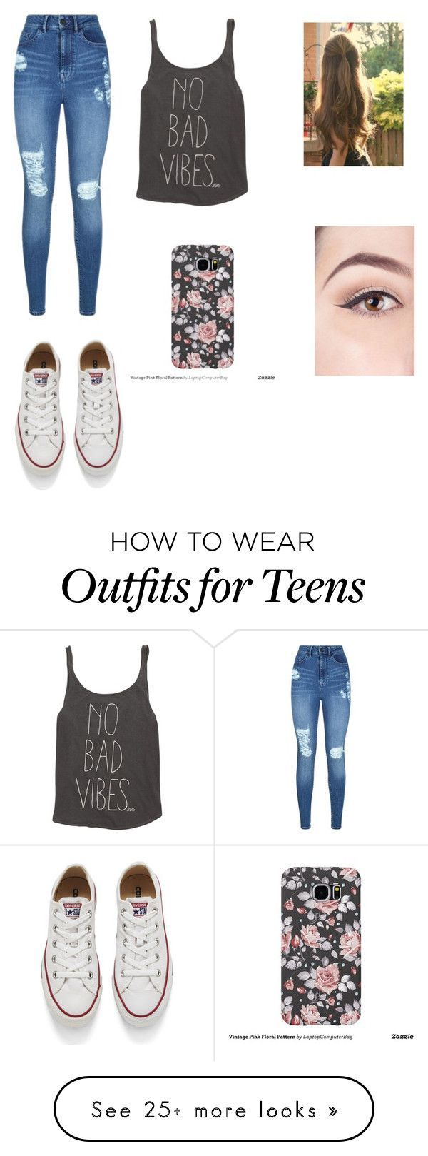 """Casual Outfits for Teens"" by caleighgarcia on Polyvore featuring Lipsy, Billabong and Converse - black and red bag, mesh bag, tan leather bag *ad"