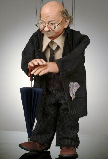 Marionette Old man Joe from CzechMarionettes traditional handmade collection…
