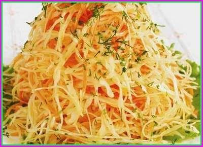 Салат из капусты с уксусом на праздничный стол - устранение переедания и опьянения