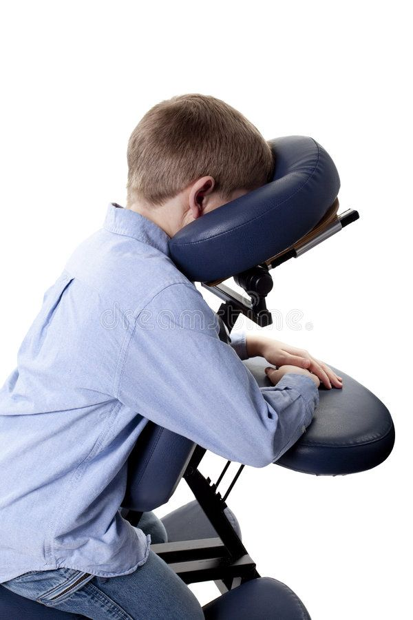 Chair Massage Closeup Of Young Boy Sitting In A Chair Massage Sponsored Closeup Massage Chair Young Massage Chair Massage Stock Photography Free
