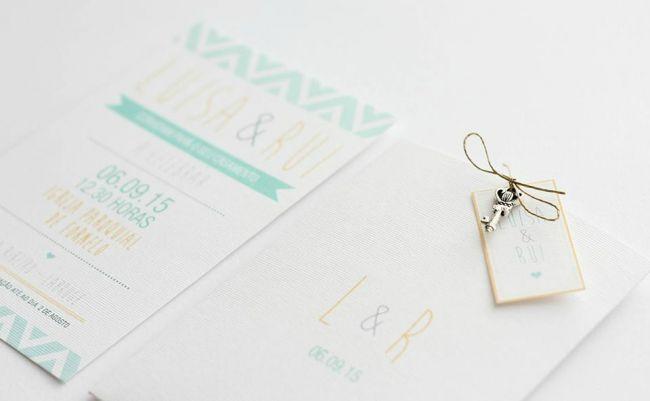 Os 35 convites de casamento mais elegantes para anunciarem o vosso casamento! Image: 7