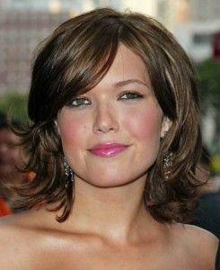 Thick Hair Round Face Hairstyles