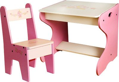 Woody Wood Princess Study Table and Chair - 050 - Buy Woody Wood Princess Study Table and Chair - 050 Online at best price in India : Flipkart.com