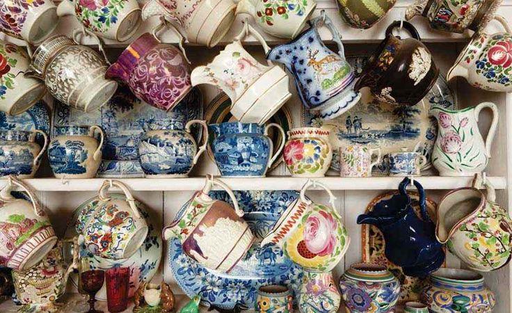 A display of ceramic jugs