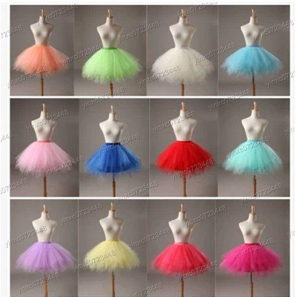 Ladyes Girls Dancewear Cute Tulle petticoat Tutu Pettiskirt Princess Party Skirt #Handmade #ALine