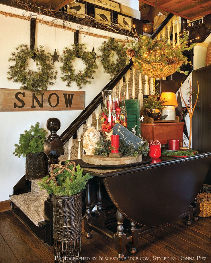 "From our November issue: In ""Fresh & Festive,"" a Washington-state interior designer continually freshens her farm's Christmas decor with items found in her own backyard."