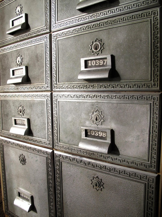 Post Box Vintage Industrial Cabinet by fowllanguage on Etsy, $450.00