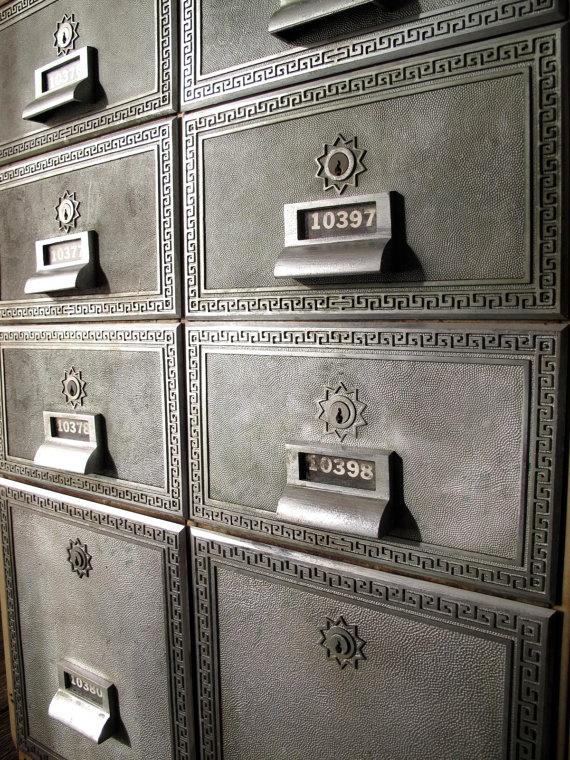 Post Box Vintage Industrial Cabinet