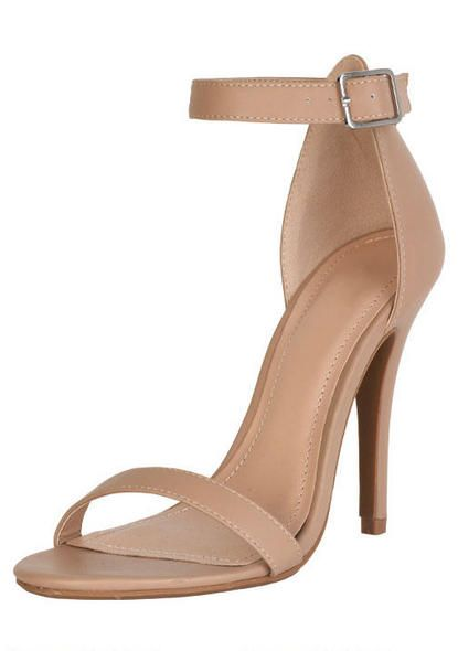 Love a great nude heel! This heel will compliment the Sheetal suit with churidar pants. Great look for this spring/summer!
