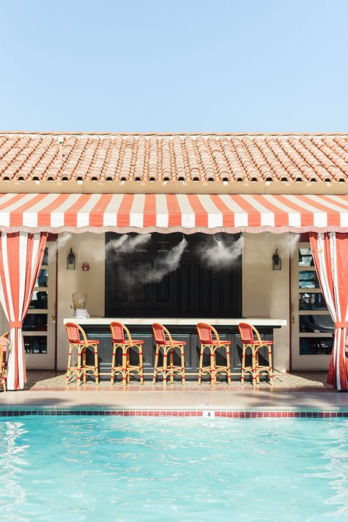 Take a dip in the Colony Palms Hotel pool in Palm Springs to beat the heat! Book a stay now by clicking on the photo! | Photo Credit: Sanza Photography