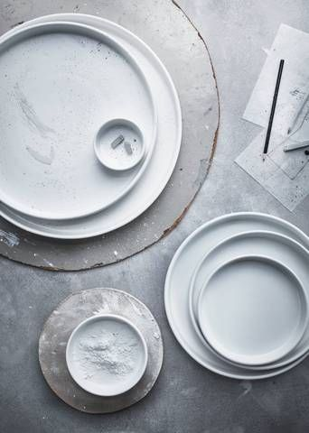 When ceramics were so chic all of our other dishes seemed suddenly inadequate. Ikea is king of demonstrating how good dishware truly doesn't have to cost a fortune. Again with the stacking. The perfect stacking.  VIKTIGT serving plates $19.99/set of 3 VIKTIGT serving plates $14.99/set of 4