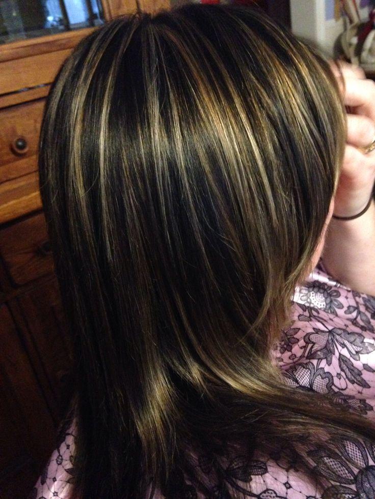 3 color hair foil dark brown medium