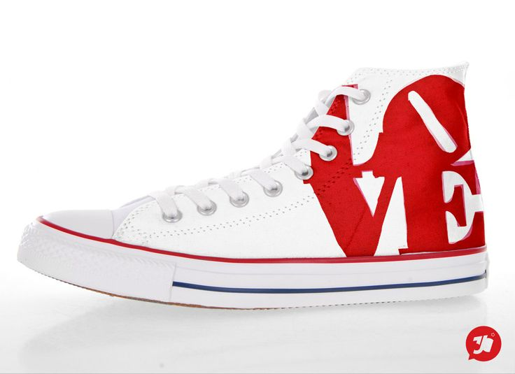 RED+LOVE+Customized+Converse+All+Star+Sneakers+by+36custom+on+Etsy,+€85.00