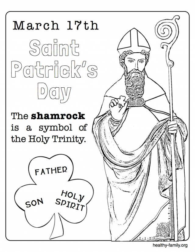 Printable St Patrick S Day Coloring Pages St Patrick S Day