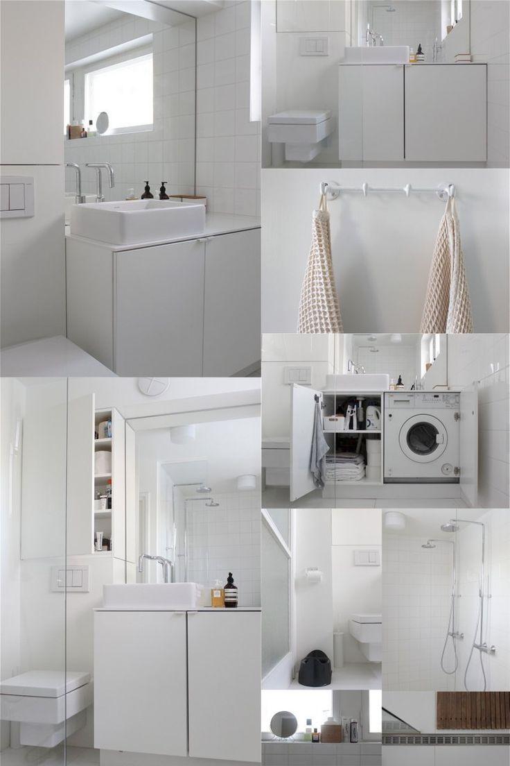 8 best washing machine bathroom images on pinterest for Bathroom designs with washing machine