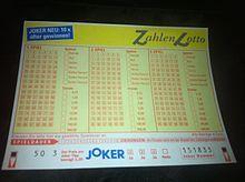 Ein Wettschein von Zahlenlotto der österreichischen Lotterien Have a shot at to suceed in the lottery, play a ticket each and every 7-day period.