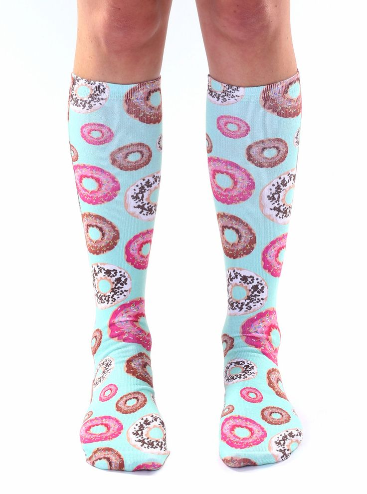"""*We love Donuts! *Unisex *100% polyester *Made in the USA *One Size fits most *Women's shoe size 4-12 *Mens Shoe Size 6-13 *20"""" L x 4"""" W"""