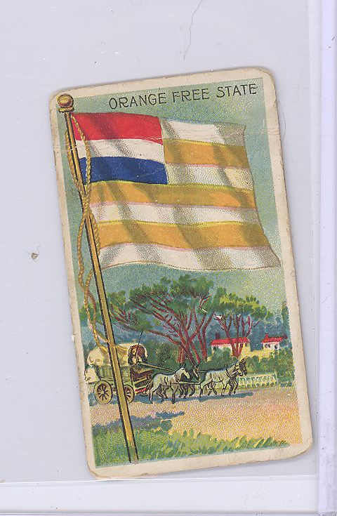1910 Recruit Cigarette Card Flags of All Nations Orange Free State G | eBay