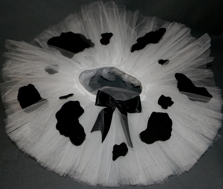 SEWN Moo Cow Tutu Sizes 0-2t. $20.00, via Etsy.  Wear with black leg warmers, back t-shirt and a cowbell necklace?